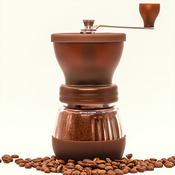 Mini grinder home manual coffee grinder removable and washable coffee grinder