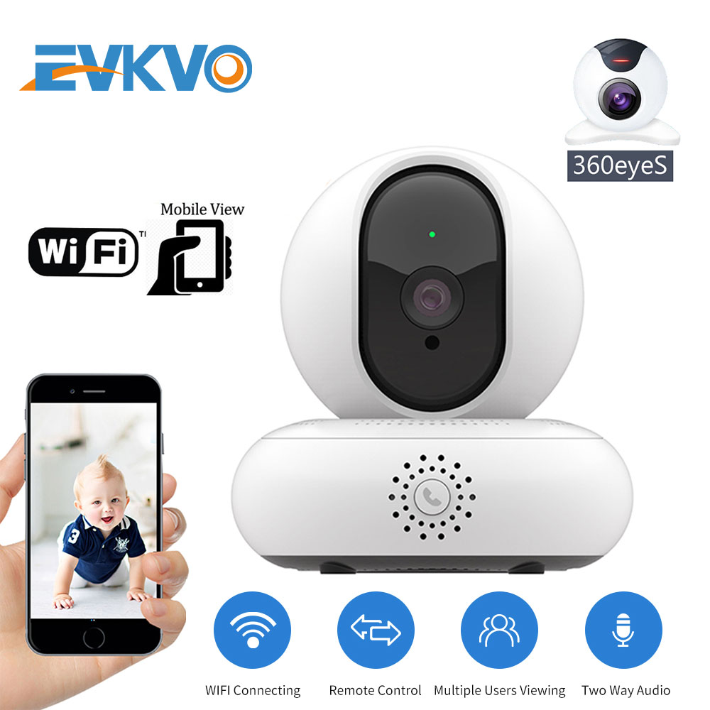 EVKVO 360eyeS APP Rotate HD 1080P WIFI Security Internet Network H.264 Video PTZ IP Camera CCTV P2P IR Night Vision Baby Monitor image