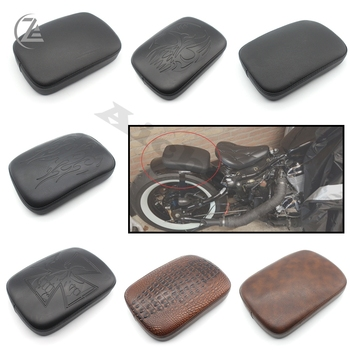 ACZ Motorcycle Multi Pattern Suction Cup Rear Pillion Passenger Pad Seat for Harley Davidson Bobber Chopper