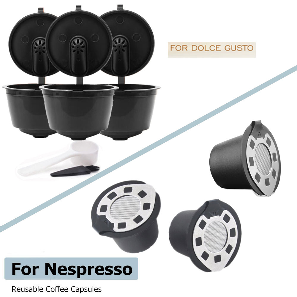 Reusable Coffee Capsule For Dolce Gusto & Nespresso Plastic Capsule Refillable Compatible with Nescafe Dolce Gusto Refill Cup(China)