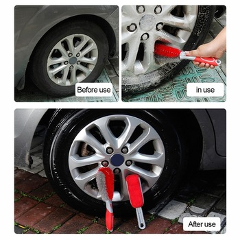 Car Rim Cleaning Brush Tire Detail Brush Car Wheel Wash Brush Wheel Rims Tire Washing Brush Auto Scrub Brush Car Wash Tools Hot image