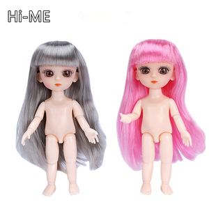 New 15cm Body Doll 13 Joint Moveable 1/8 BJD Doll with Shoes Normal Skin Dress Up Girl Toys for Kids Beautiful Princess(China)