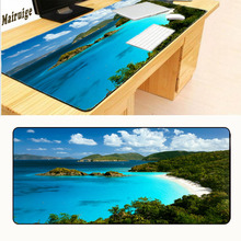 Mairuige Beautiful Blue Sky Gamer Mouse Pad Gaming Mousepad Natural Rubber Overlock Mouse Pad Pad Game Pad Computer Desk Mouse daisy flower and blue sky round mouse pad