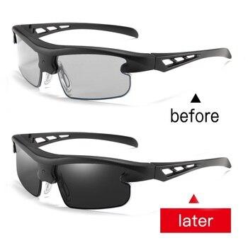 Auto Adjustable Dimming Sunglasses Men Polarized Photochromic Auto Darkenning Discoloration Chameleon Sun Glasses Sport UV400 2