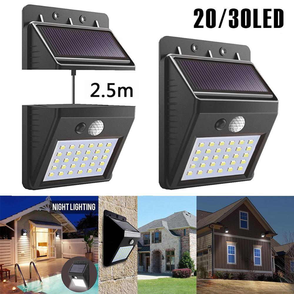 20/30 LED Solar Light Outdoor Solar Lamp PIR Motion Sensor Wall Light Waterproof Solar Powered Sunlight for Garden Decoration