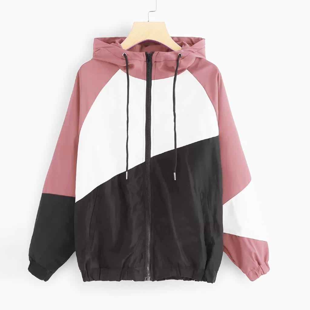Hae637ac358ba496295dc6d6da75401028 JAYCOSIN Jacket Women 2019 Long Sleeve Patchwork Thin Skinsuits Windbreaker Hooded Women's Jackets Coats chaquetas mujer 19JUL23