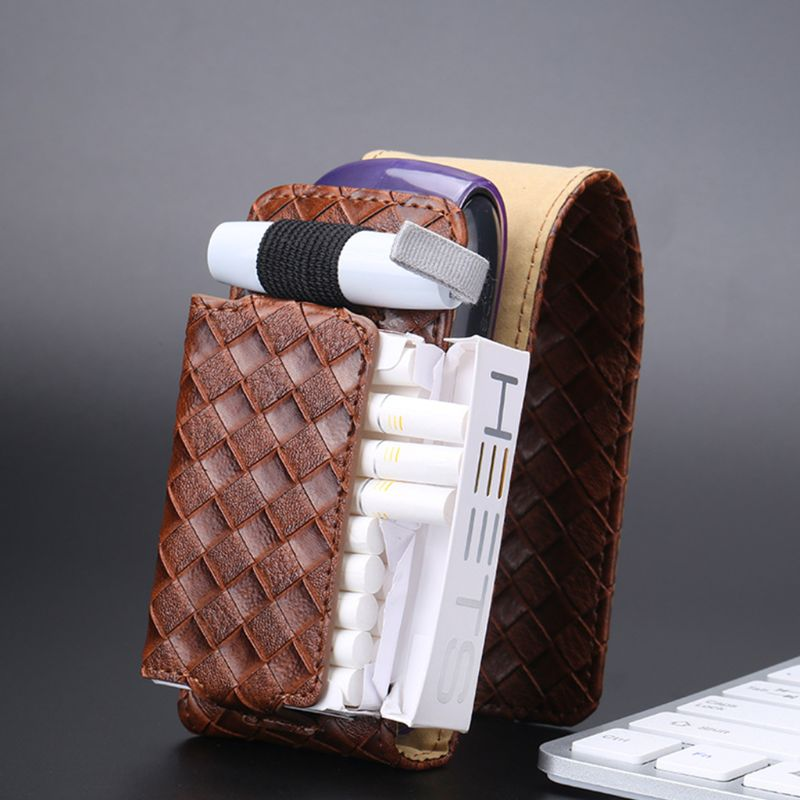 Anti-scratch PU Leather Woven Protective Case Cover Carrying Bag For IQOS 3.0 Accessories