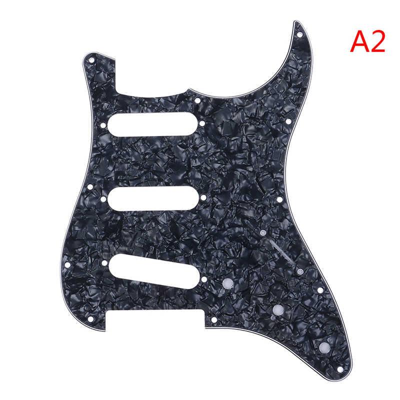 1Pc גיטרה Pickguard גיטרה חשמלית Pickguard לstrat סטראטוקסטר שחור מכשירים & הילוך