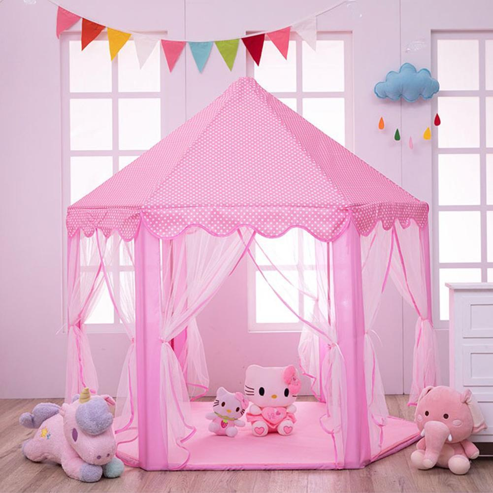 Children Play Tent Fairy Princess Girl Boy Hexagon Playhouse Anti-mosquito Bed Canopy Home Decor Outdoor Net Tent