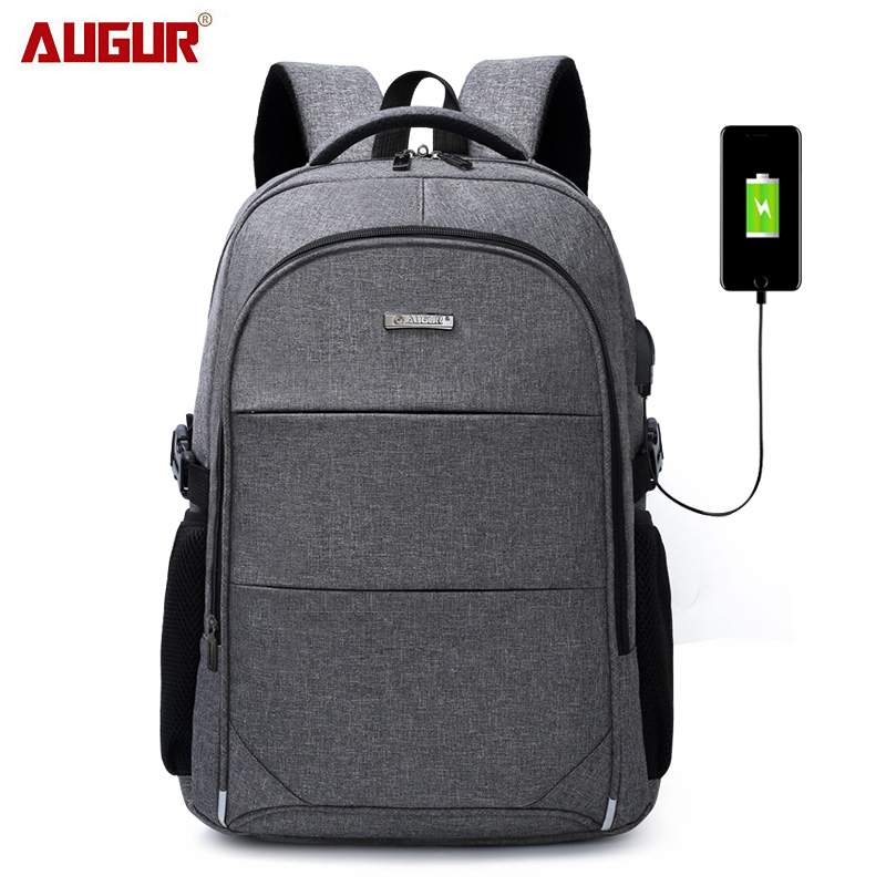 15.6-17 Inch Laptop Backpack For Women Men Waterproof Oxford USB Port Charging Backpacks Business Men's School Backpack Bag