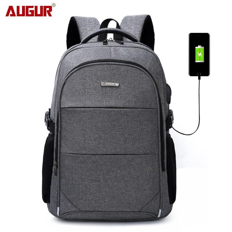 15.6-17 Inch Laptop Backpack For Women Men Waterproof Oxford USB Port Charging Backpacks Business Men's School Backpack Bag