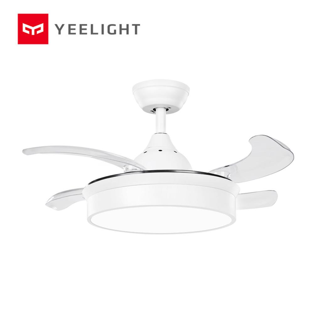 Yeelight LED Silent Ceiling Fan Modern Invisible Acrylic Leaf Lamp Restaurant Lighting Remote Control Dimming Decorative Lamps