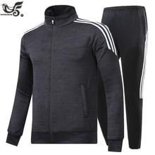 New Brand Mens Set Spring Autumn Men Sportswear 2 Piece Set Sporting Suit Jacket+Pant Sweatsuit Male Tracksuit Size M 5XLMens Sets