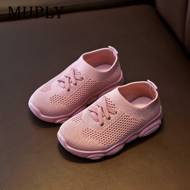 Çocuk ayakkabı kaymaz yumuşak kauçuk alt bebek spor ayakkabı rahat düz ayakkabı ayakkabı çocuk boyutu çocuk kız erkek spor ayakkabı