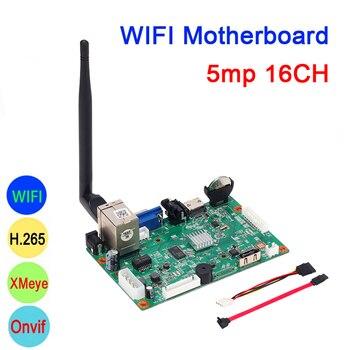 5mp/4mp/3mp/2mp/1mp IP Camera Hi3536D XMeye 5mp Audio H.265+ 16CH 16 Channel Onvif IP WIFI NVR Motherboard