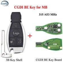 La chiave remota intelligente CGDI per Mercedes per Benz supporta i pulsanti BGA 315MHz o 433MHz supportano tutte le FBS3 e il recupero automatico