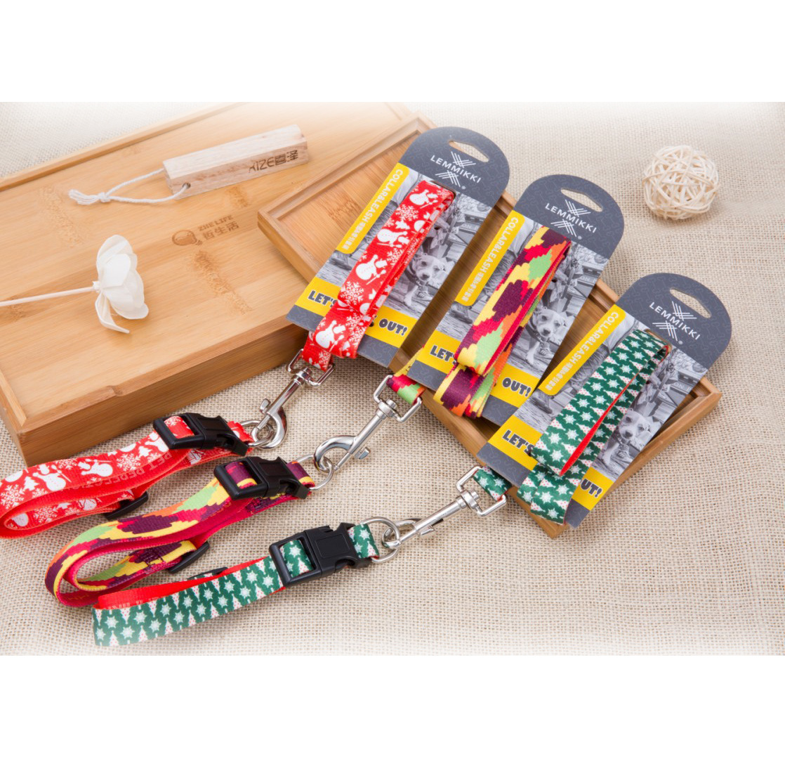 Pet Traction Rope Printed Traction Suspender Strap Triangular Chest And Back Small Dogs Dog Traction Rope Processing