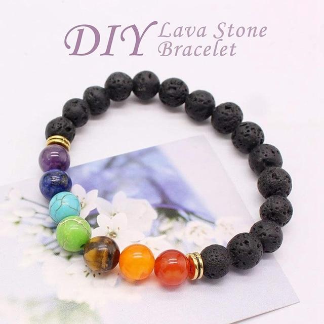 526PCS Lava Bead Set Rock Stone, Chakra Beads, Aqua Cat, DIY Friendship Bracelets, Necklaces and Other Jewelry