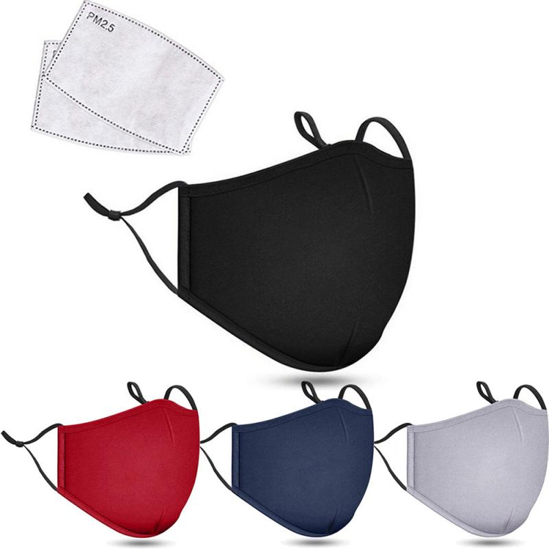 5 Colors PM2.5 Anti Dust Mask Activated Carbon Filter Masks Windproof Mouth-muffle Proof Flu Face Masks With Filters