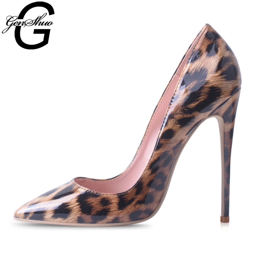 GENSHUO Stiletto High Heels Shoes for