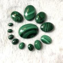 100% Natural Malachite Bead Cabochon 5x7,8x10,10x14 12x16,13x18,18x25,22x30mm Oval Gem Stone Jewelry Cabochon Ring Face,2pcs/lot