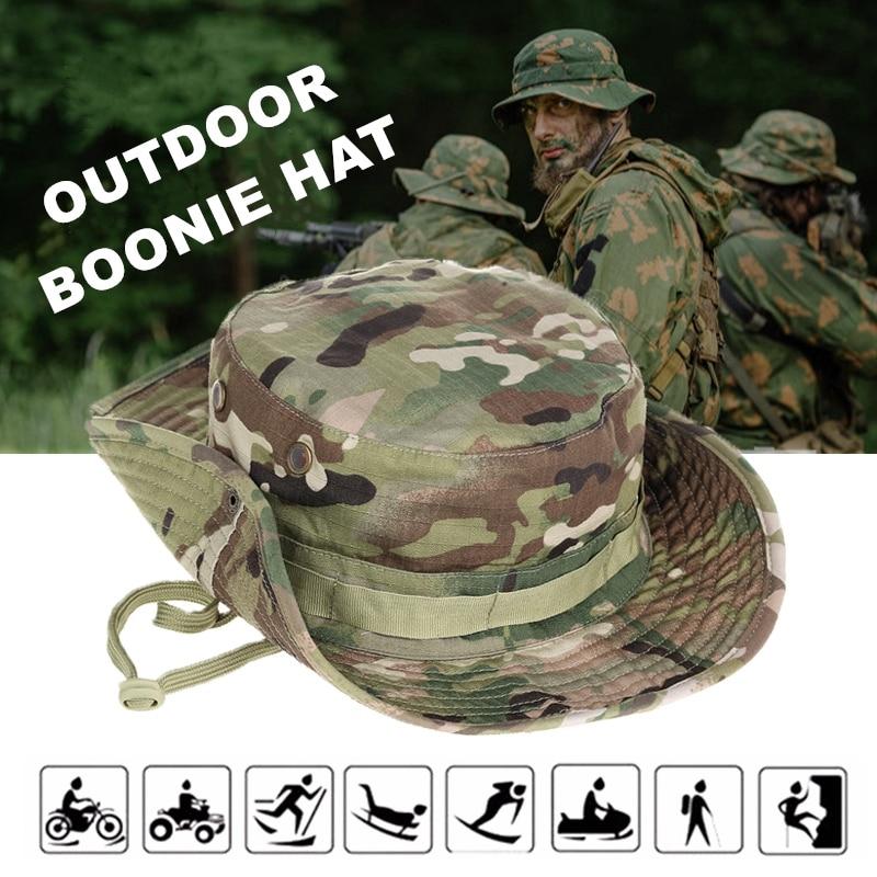 Multicam Boonie chapeau militaire Camouflage seau chapeaux armée chasse en plein air randonnée pêche soleil protecteur pêcheur casquette tactique hommes