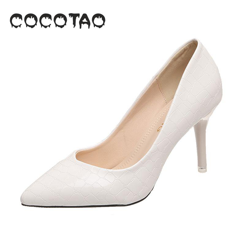 High heels summer 2019 new fairy wind pointed white fine with female Joker wedding shoes bridesmaids small size 33 in Women 39 s Pumps from Shoes