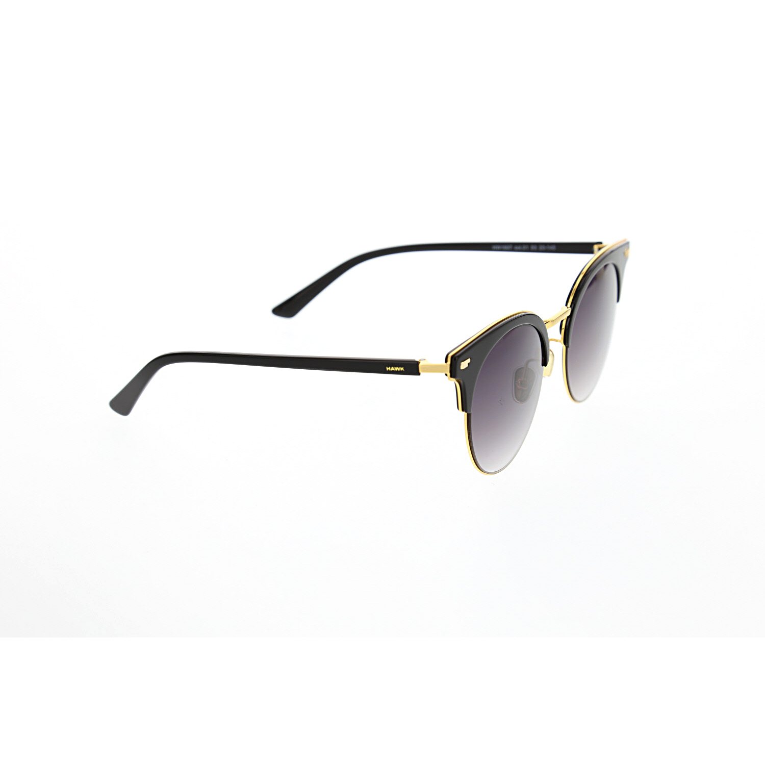 Women's sunglasses hw 1697 01 clubmaster gold organic oval aval 50-20-145 hawk