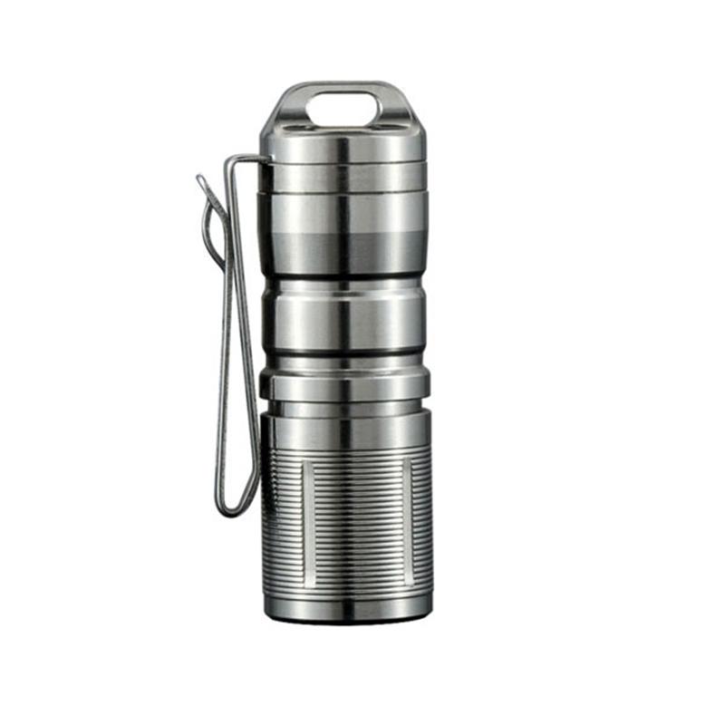 JETbeam Mini-1 TI Titanium XP-G2 130LM USB Rechargeable Mini LED Flashlight Waterproof Lantern Spotlight Lamp Camping Portable