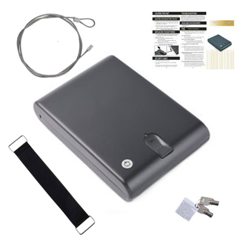 Password Safes Portable Car Safebox Gun Safes Valuables Money Jewelry Storage Box Security Strongbox 1mm Cold-rolled Steel Sheet