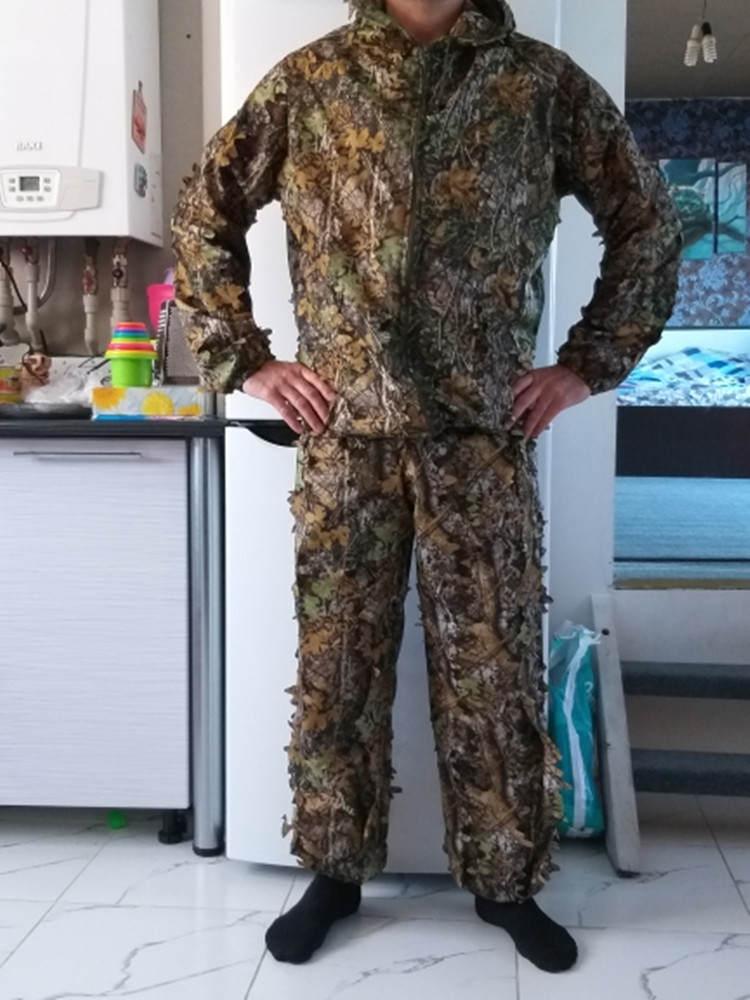 Уличная охотничья куртка 3D Кленовый лист бионические маскировочные костюмы Yowie снайперский светильник Камуфляжный страйкбол камуфляж оде...