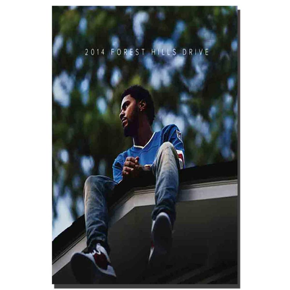 M720 J Cole 2014 Forest Hills Drive Album Cover Rap Music Art Silk Poster 24x32 Print Canvas Pictures Decoration Custom 24x36in image