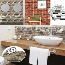 Home Decor 3D PVC Wood Grain Wall Stickers Paper Brick Stone wallpaper Rustic Effect Self-adhesive Home Decor Sticker Room home decor 3d pvc wood grain wall stickers paper brick wallpaper self adhesive home decor kids room wallpaper brick