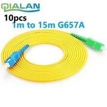 10pcs SC APC to UPC PC G657A 1m 2m 3m Fiber Patch Cable Jumper FTTH Cord Simplex 2.0mm Fibra Optica Patchcord