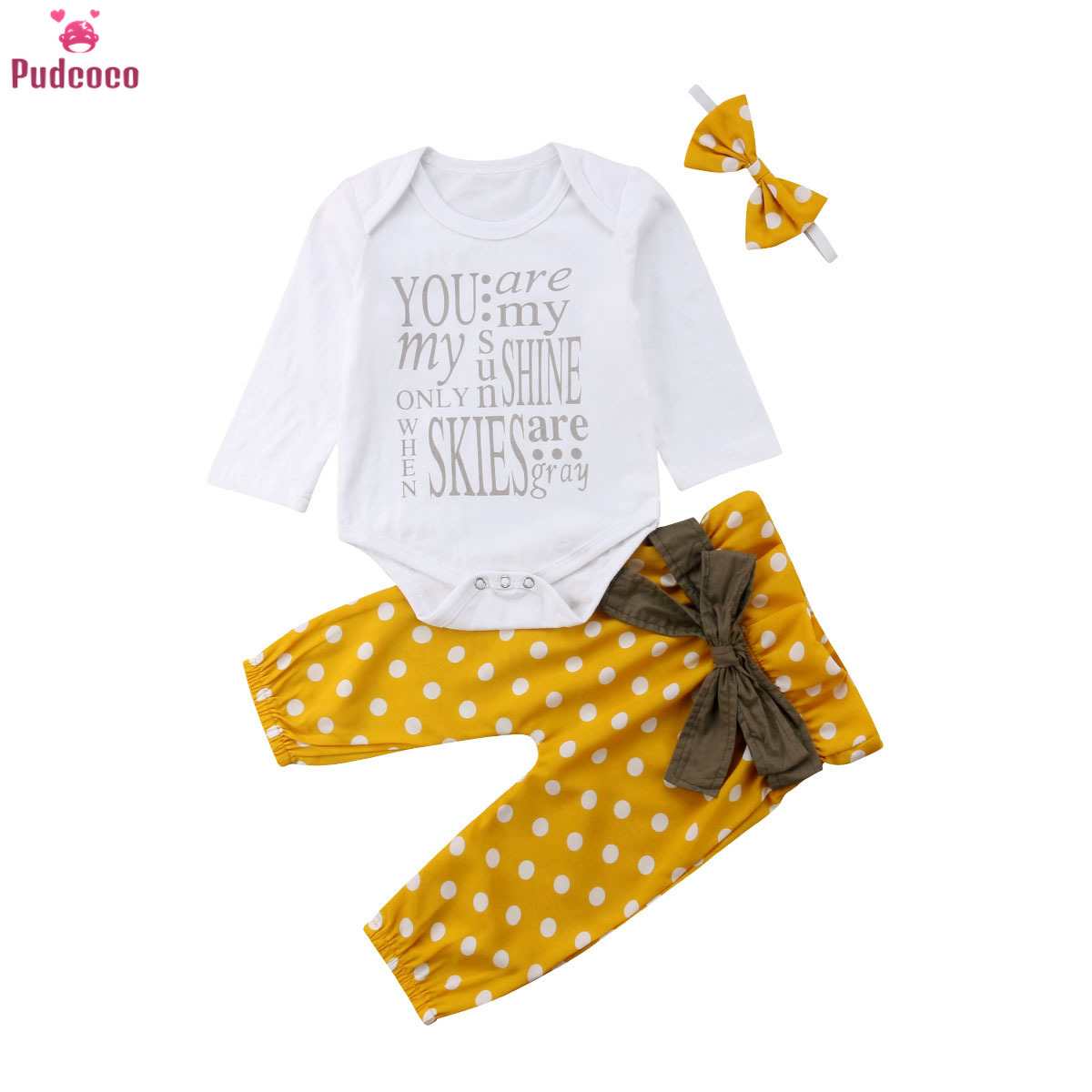 Toddler Kids Baby Girls Daddy/'s Princess Clothes Tops Floral Pants 3PCS Outfits