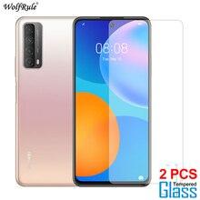 2 قطعة واقي للشاشة لهواوي P Smart 2021 Glass Z S Y9 Prime 2019 طبقة رقيقة واقية من الزجاج المقسى لهواوي P Smart 2020