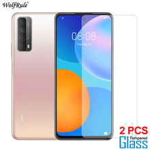 2Pcs Protezione dello schermo per Huawei P Smart 2021 Glass Z S Y9 Prime 2019 Pellicola protettiva in vetro temperato per Huawei P Smart 2020