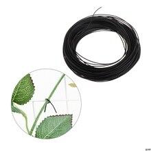 40 м садовый покрытый черный твист провод веревка галстук рулон завод поддержка ремень кабели