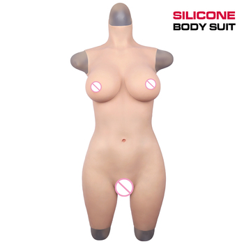 GorgeousU Crossdresser Silicone Breast Forms Body Suit Fake Vagina Pussy For Cosplay Drag queen Tits Shemale Transgender