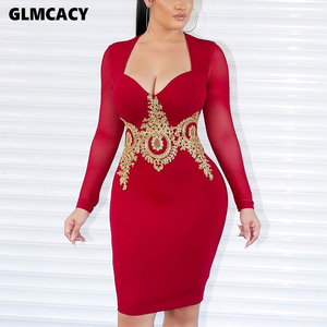 Women Lace Splicing Square Neck Long Sleeve Bodycon Mini Dress Slim Fit Low Cut Out Sexy & Club Night Out Party Vestido