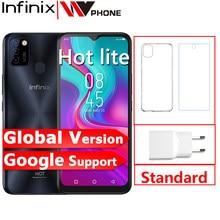 Infinix quente 10 lite versão global 2gb 32gb celular 5000mah bateria 6.6 hd hd 1600*720p 13mp câmera helio a20