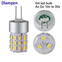 2 stücke ampolletas led lampe g4 12v 24V super 2W mais licht smd 3014 HP24W 12 24 v volt hohe qualität 360 grad lampen