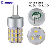 цена на 2pcs ampolletas led lamp g4 12v 24V super 2W corn spotlight bulb light smd 3014 HP24W 12 24 v volt high quality 360 degree lamps