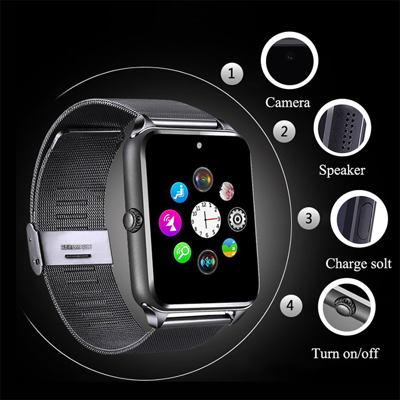 Z60 Smart Watch Men Women Support SIM/TF Card Metal Bluetooth Wrist Fashion Business Wristwatch For Apple Android Phone