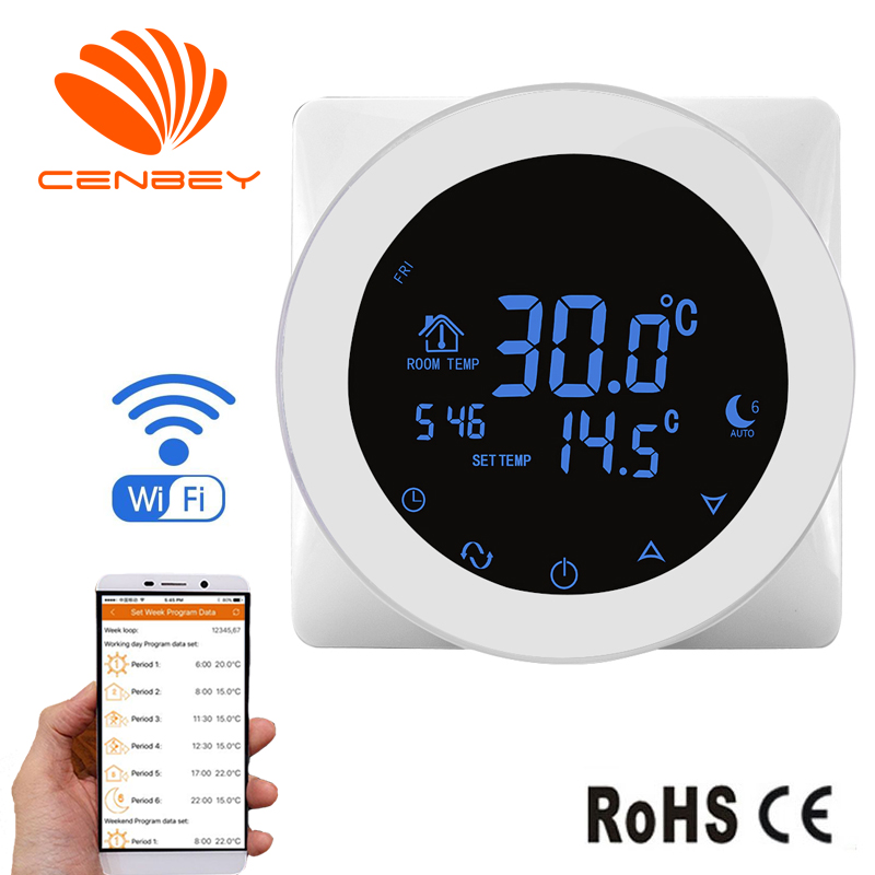 Wifi Thermostat Central Heating Room Thermostat Underfloor Heating Thermostats Smart Thermostat Temperature Controller 16A 220V
