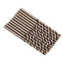 10шт микро быстрорежущей стали HSS прямой хвостовик мини-спиральные сверла электрическая дрель вращающихся инструментов мощность 1,1 мм 1,3 мм 0,5 мм 0,8 мм