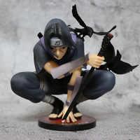 Figuras de Naruto de PVC de 18cm, modelo Dark Itachi Uchiha Akatsuki, Kits de garaje