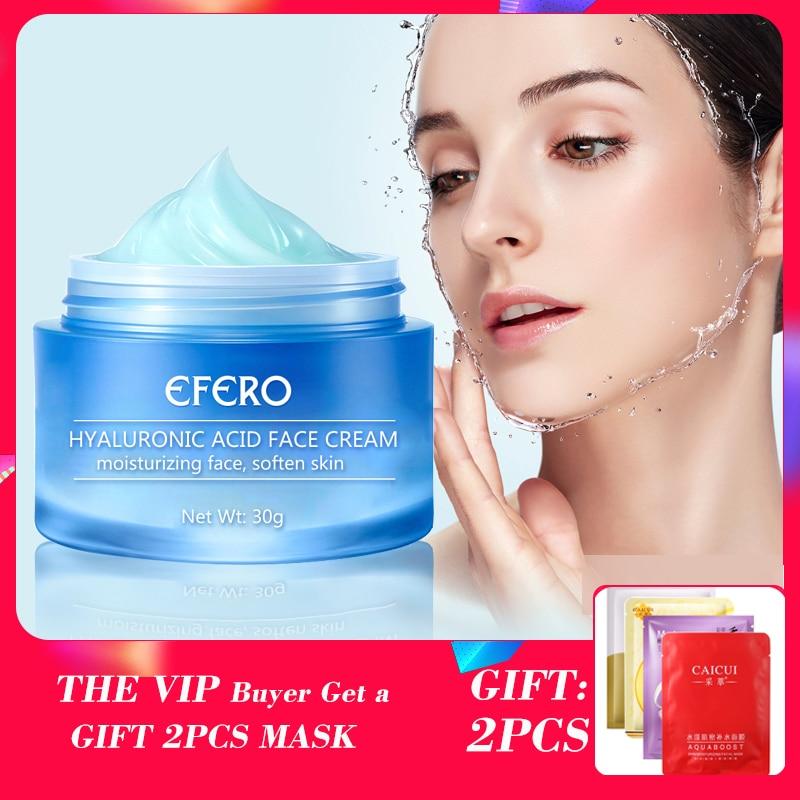 EFERO Moisturizer Face Cream Hyaluronic Acid Skin Whitening Wrinkle Care Acne Treatment