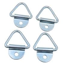 Anclajes de amarre de carga de acero, perno en V en cuerda de remolque, 4 piezas