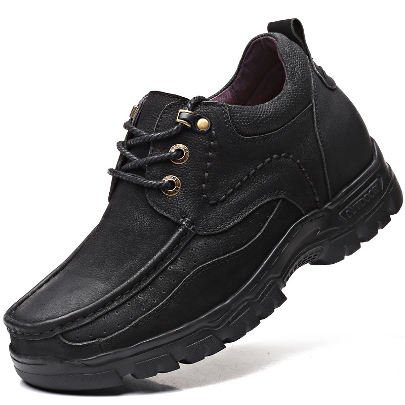 Image 5 - Leather Casual Shoes with Elevated Levels in 2019 Spring and Autumn Genuine Leather  mens style shoes-in Men's Casual Shoes from Shoes